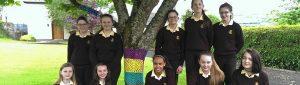 Loretto Girls under tree in garden