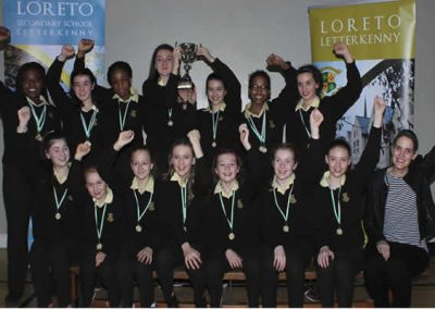 Loreto girls with swimming medals