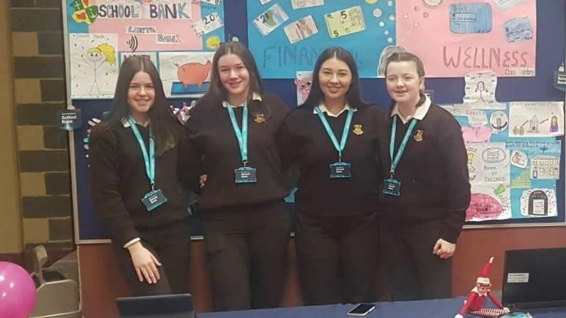 Bank of Ireland camera crew visited the school