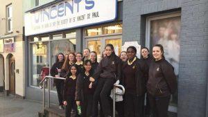 Loreto Letterkenny students outside St Vincents