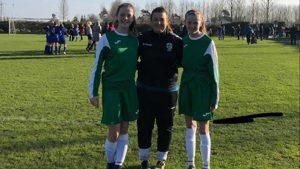 Nicole Mc Daid, Erika Gallagher representing Loreto Letterkenny of U15 Ulster Schools Team
