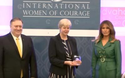 Sr Orla Tracey (Principal of Loreto Rumbek) awarded an International Women of Courage Award