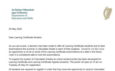 Leaving Cert Students & Calculated Grades