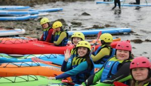 TY in canoes